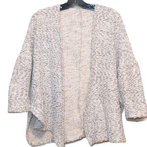 UO Ecote White open front knobby knit cardigan
